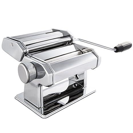 Levivo Máquina para Hacer Pasta Fresca - Máquina de Fideos Manual de Acero Inoxidable con Rodillos