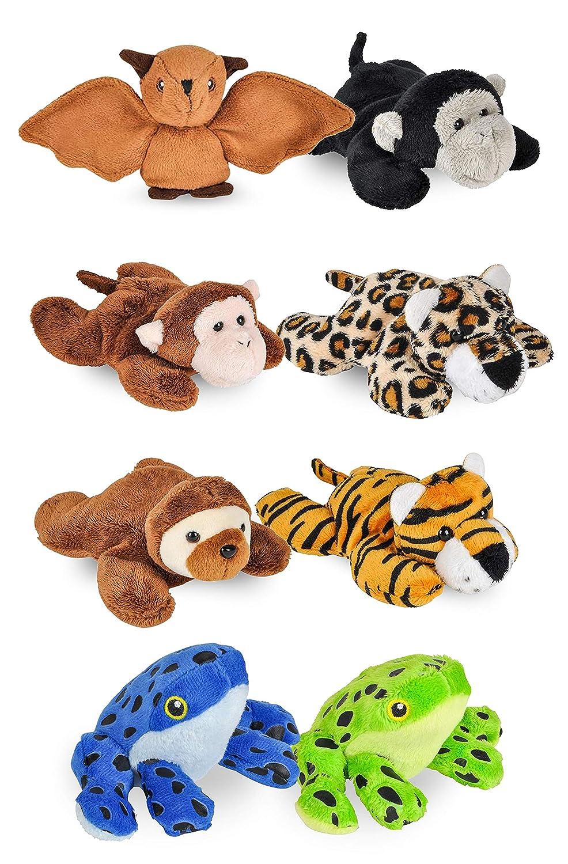Amazon Com Wildlife Tree 8 Pack Jungle Mini 4 Small Stuffed