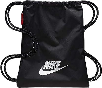 Nike Heritage 2.0 Gymbag Gymsack Turnbeutel (BlackWhite, one Size)