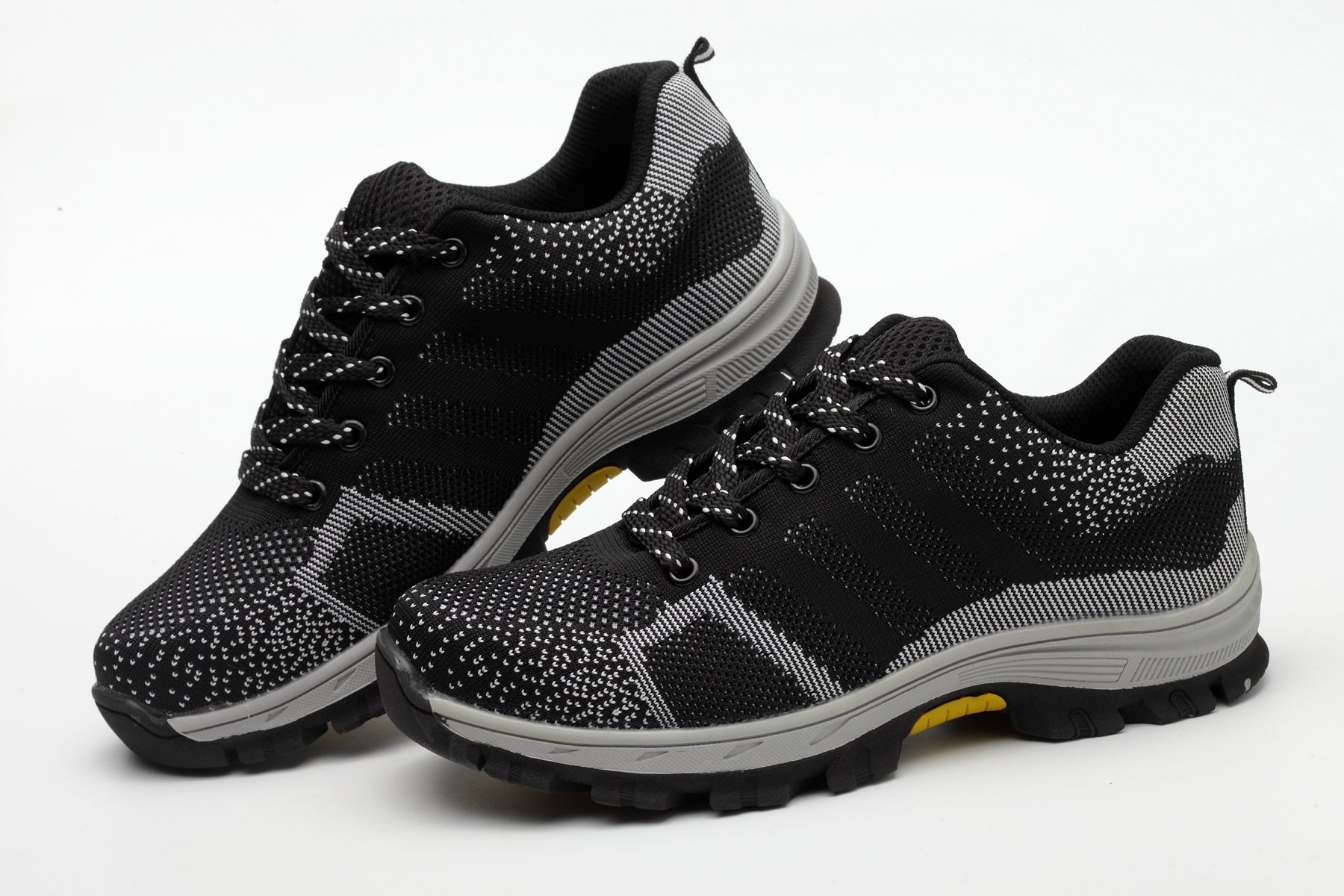 Men Fashion Large Size Breathable Mesh Steel Toe Caps Light Weight Work Safety Summer Shoes