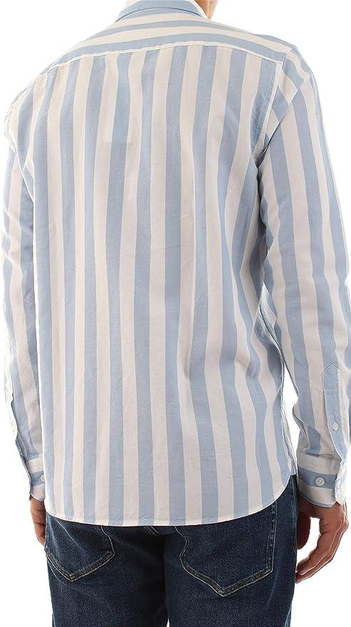 Calvin Klein Cotton Oxford Stripe - Camiseta: Amazon.es: Ropa y accesorios