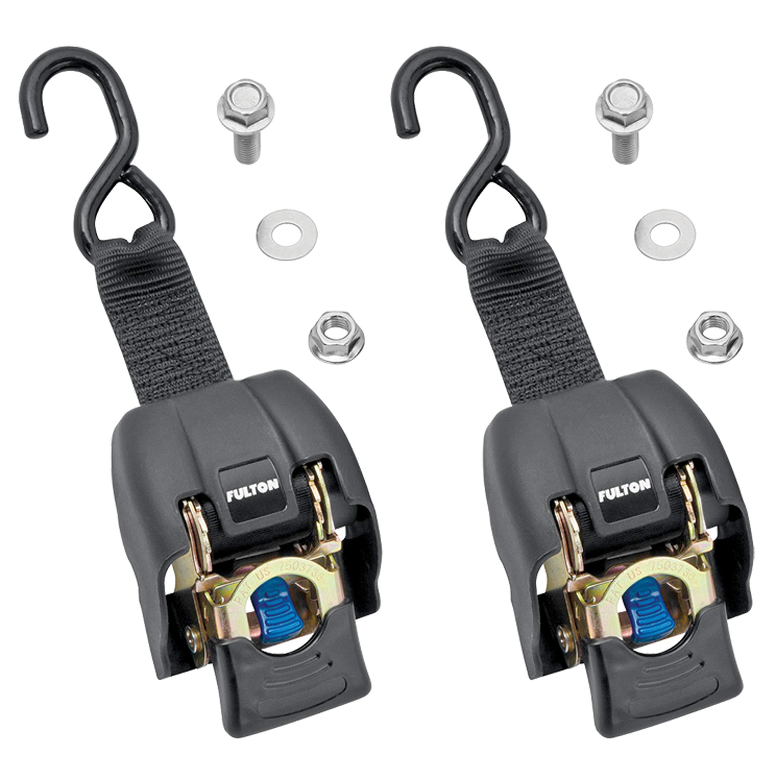 Fulton 2060366 2'' x 43'' Zinc Transom Retractable Ratchet Tie Down