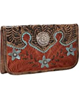 5683282 American West Women's Desert Wildflower Wallet - Tan
