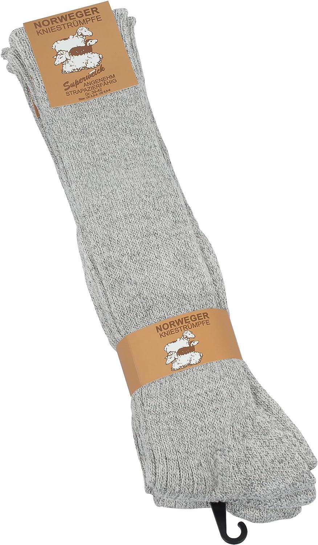8,5-11, Grey Melange Chunky Wool Socks with terry sole 3 Pairs Mens Scandinavia Knee high Socks extra warm