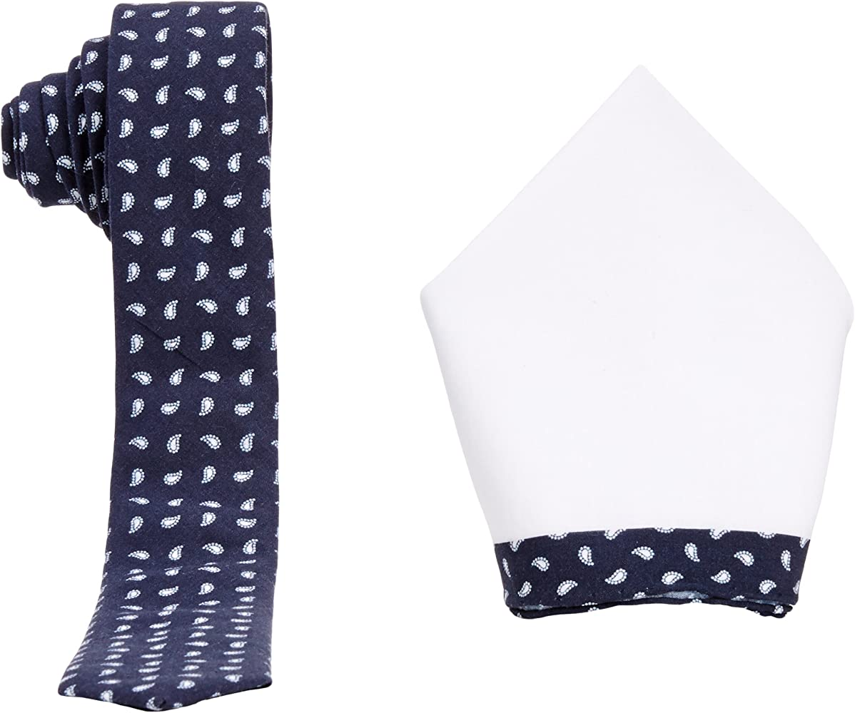 Selected - Corbata con estampado cachemir para hombre, color navy ...