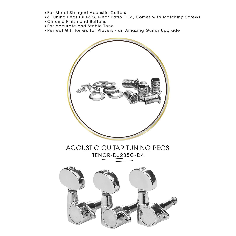 DJ233G-D3 TENOR Acoustic Guitar Tuners, Tuning Key Pegs/Machine