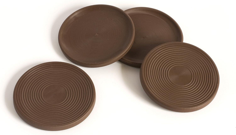 /Negro Pl/ástico Juego de 4 Slipstick CB511/1/Inch Tall Protector de suelo Muebles Pies Con empu/ñadura de goma antideslizante 2/de ancho x 1 Altura/