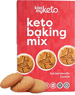 product image for Kiss My Keto Cookie Mix — Keto Cookies Low Carb Baking Mix | Low Sugar, Snickerdoodle Cookie for Keto Diets | Dairy & Whey Protein Free, Low-Carb Keto Snacks — No Sugar Alcohols (12 Servings)
