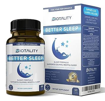 BIOTALITY Better Sleep Natural Sleep - aid for a deep, restful Sleep Every Night,