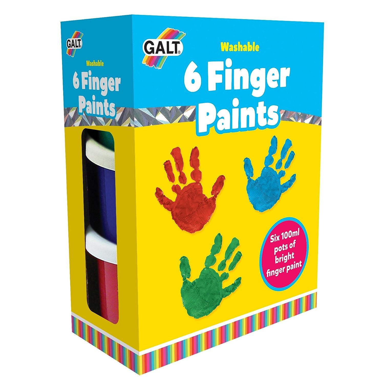 Galt Toys Peinture lavable Peinture avec les mains 6couleurs A3008E