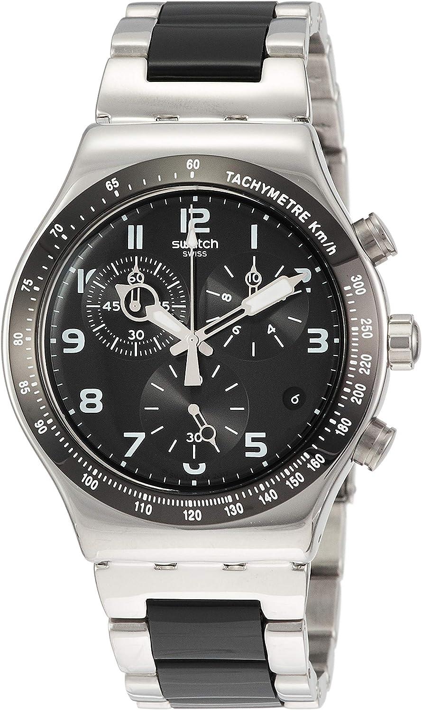 Swatch Reloj Cronógrafo para Hombre de Cuarzo con Correa en Aluminio YVS441G