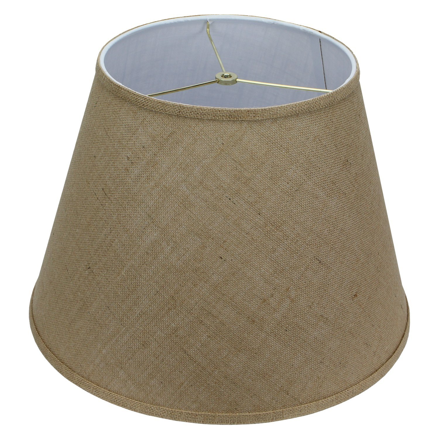 FenchelShades.com Lampshade 11'' Top Diameter x 18'' Bottom Diameter x 13'' Slant Height with Washer (Spider) Attachment. For Use on Lamps with Harps (Burlap)