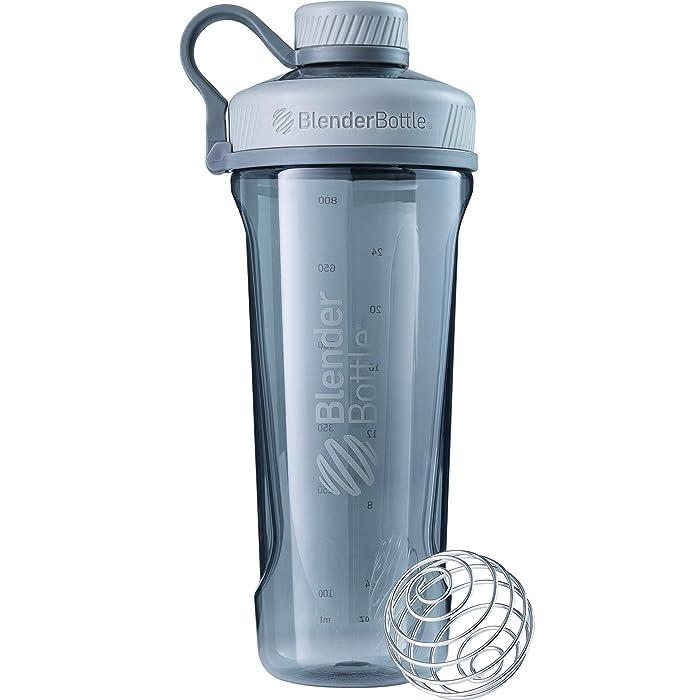 BlenderBottleRadian Tritan Shaker Bottle, Pebble Grey, 32-Ounce