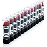 IntiMD 12 DuraColor Mushroom Infused Lipsticks Women Set Long Lasting, Non Fading Colors, Rich Texture, Matte Finish | For Bachelorettes, Party Favors, Novelty Gag Gifts, Birthday Parties, Nights Out