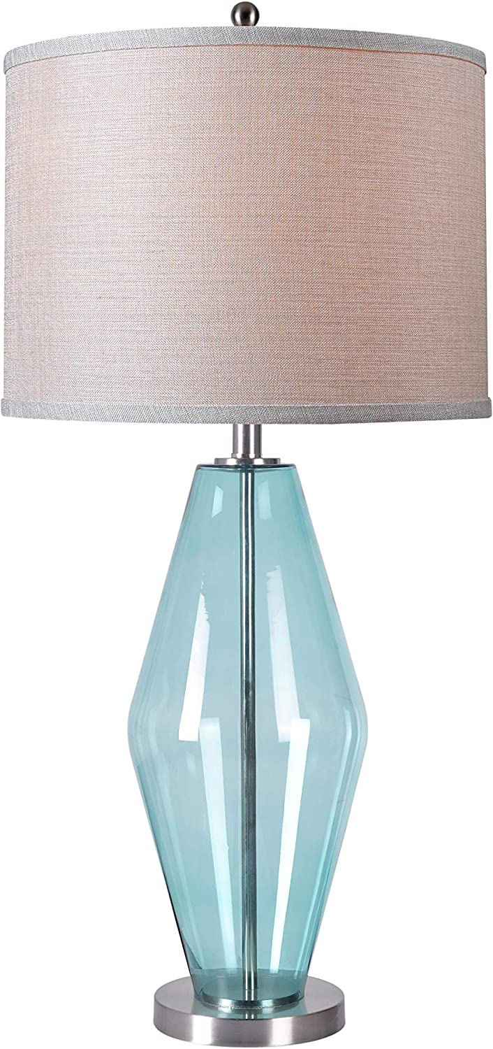 Kenroy Home 32315TEAL Azure Table Lamps, Large, Teal Glass Finish