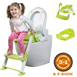 Limited SALE - Potty Training Seat - Potty Chair - PERFECT Potty as a GIFT - STURDY Potty Seat with Step Ladder plus Toilet Seat Plate for Boys and Girls - Potty Stool with Handles' Stoppers