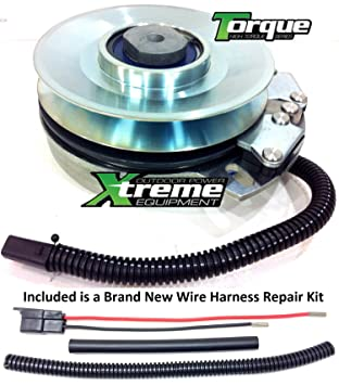 81XeOhXQkuL._SY355_ amazon com bundle 2 items pto electric blade clutch, wire cub cadet pto clutch wire harness repair kit at cos-gaming.co