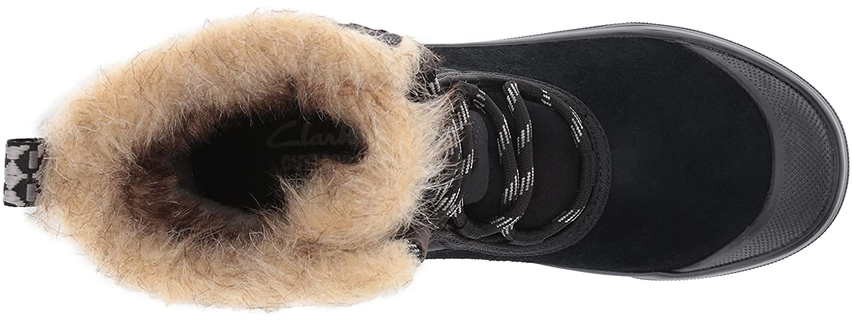 CLARKS Women's B0195HSD5M Muckers Mist Snow Boot B0195HSD5M Women's 8 B(M) US|Black Suede/Textile d0975c