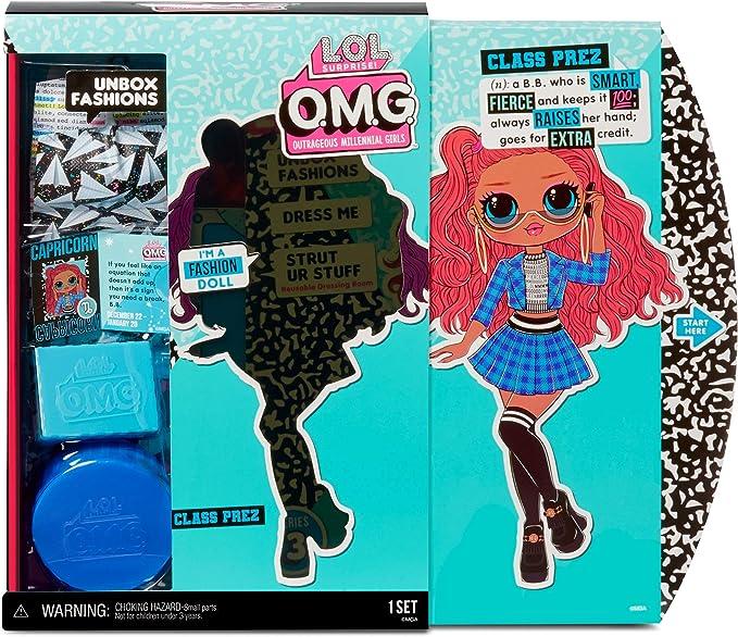 O.M.G Surprise Class Prez Fashion Doll with 20 Surprises L.O.L 567202