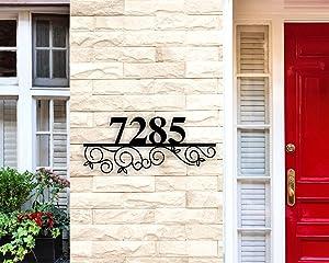 Custom Metal Address Sign, Address Numbers for House, Address Plaque, House Number Plaque Metal Address Numbers Address Plaque House Numbers