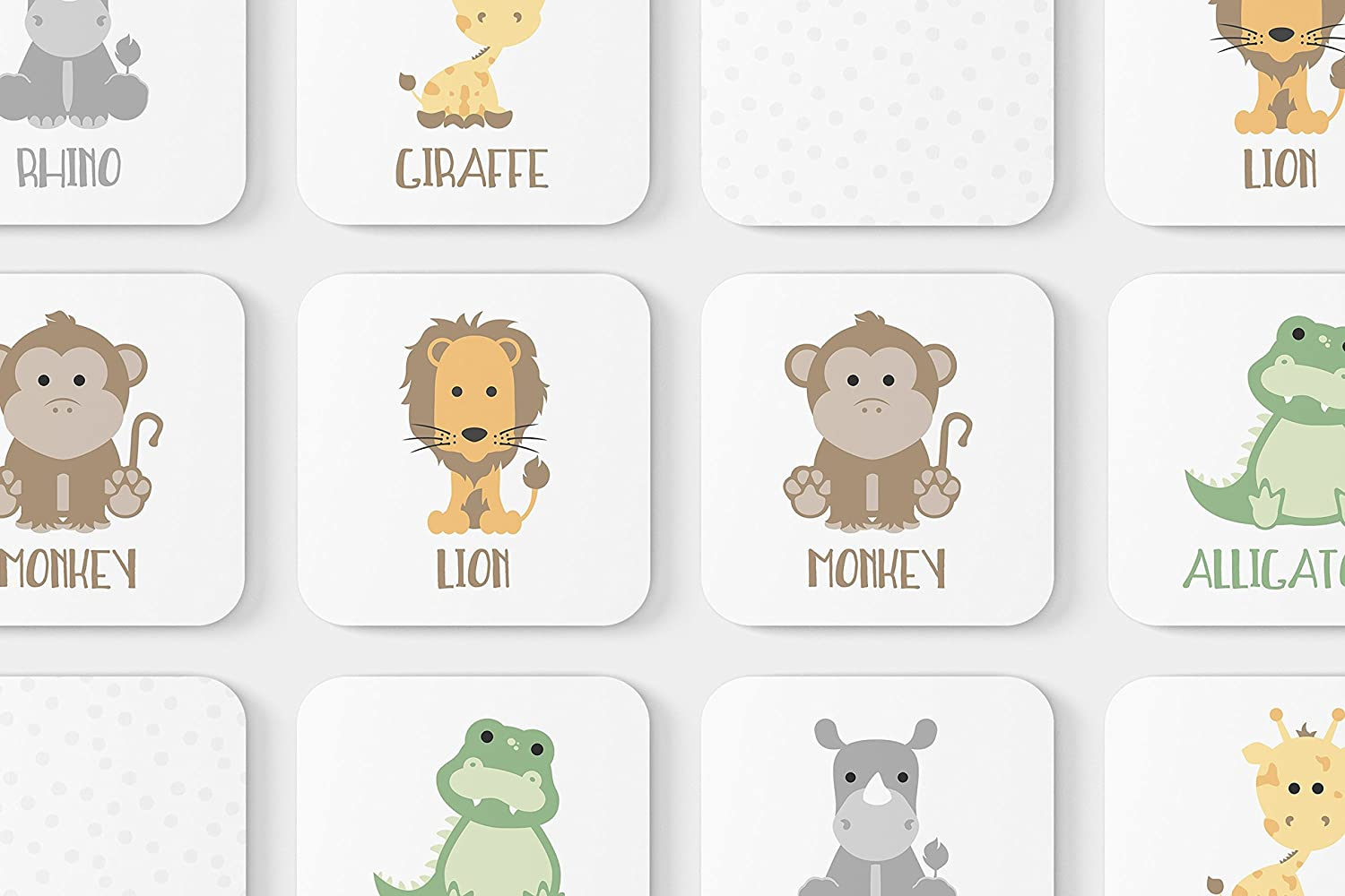 Safari Animal Memory Game