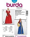 Burda B7468 Patron de Couture Robe et Bonnet Moyen Age 19 x 13 cm