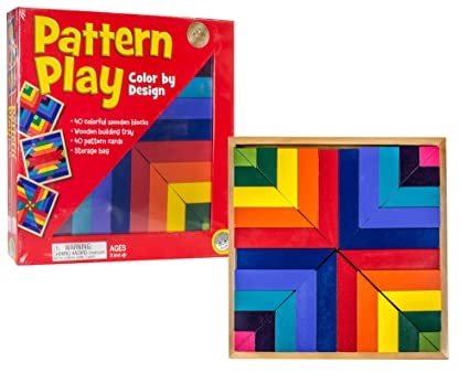 Amazoncom Mindware Pattern Play 40 Colored Block Replication Game