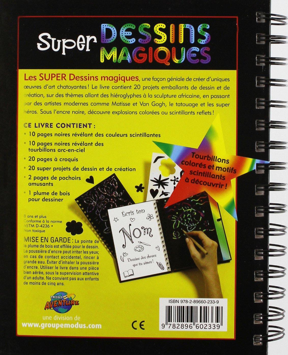 26 avril 2011 Collectif PRESSE AVENTURE 289660233X TL289660233X Super dessins magiques Reliure à spirales