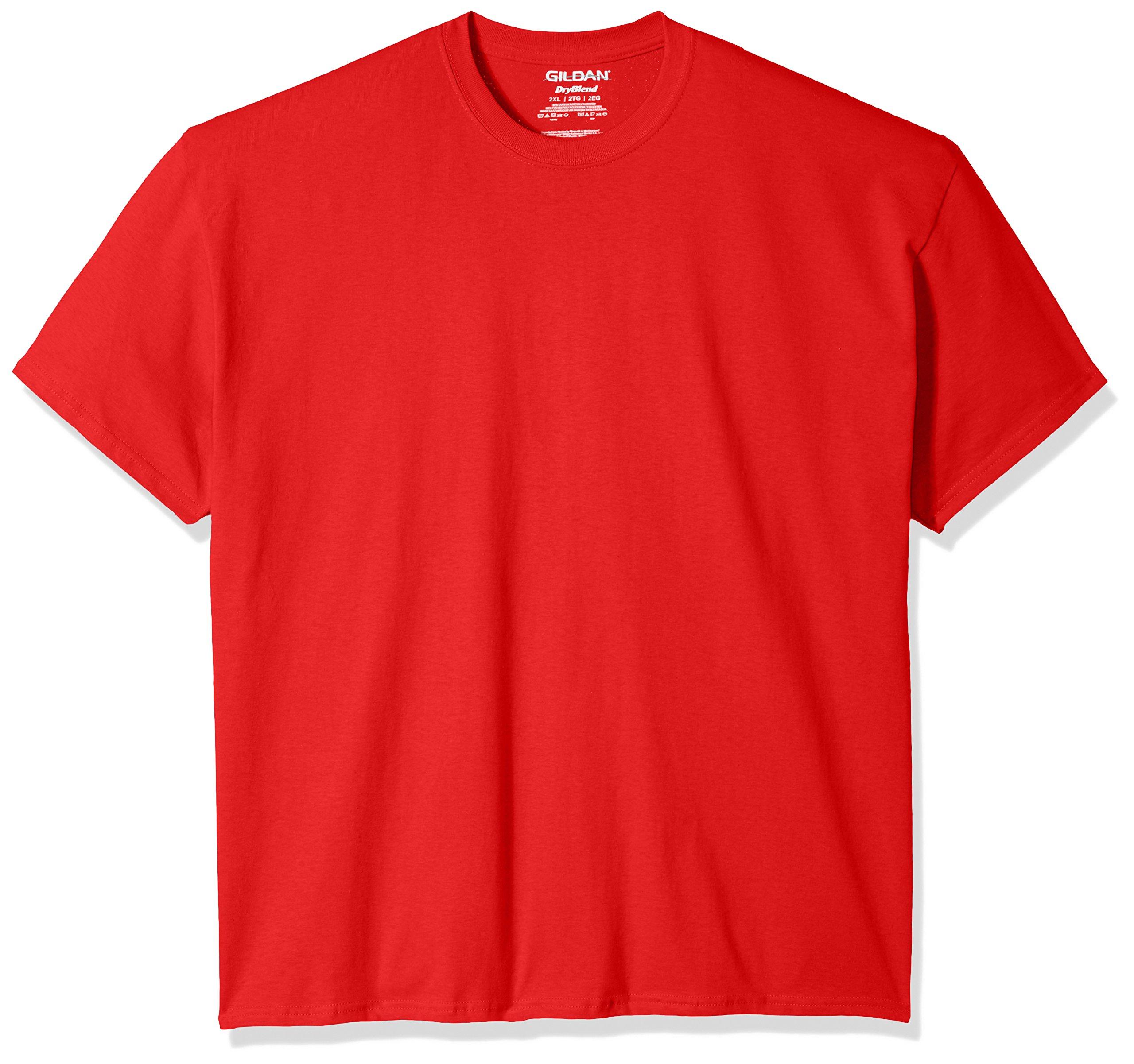 Gildan Men's DryBlend Classic T-Shirt Extended Sizes, Red XX-Large