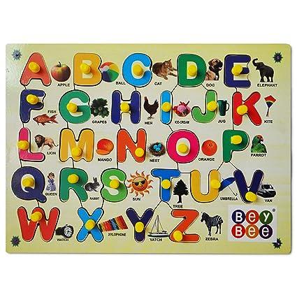 Beybee Wood Educational Toys Upper Alphabets Learning Kit