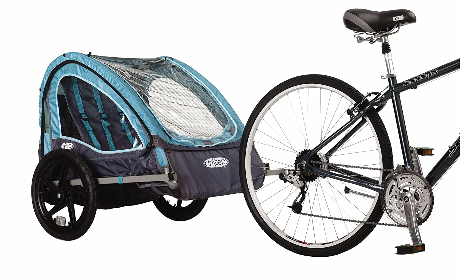 Instep Take 2 Double Bicycle Trailer Turquoise