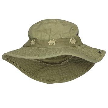 28f651c1d03 Image Unavailable. Image not available for. Color  Carter s Safari Outdoor  Bucket Infant Boys Sun Hat Khaki ...