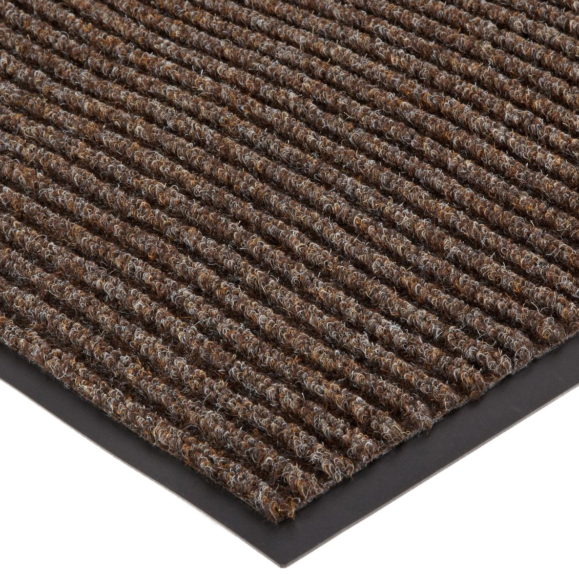 Durable Spectra-Rib Vinyl Backed Indoor Entrance Mat, 4 x 8 , Brown