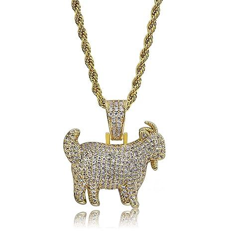 sito ufficiale metà prezzo super economico YOLANDE 18 K Placcato Oro Americani Hip-Hop Rapper Uomini/Donne ...