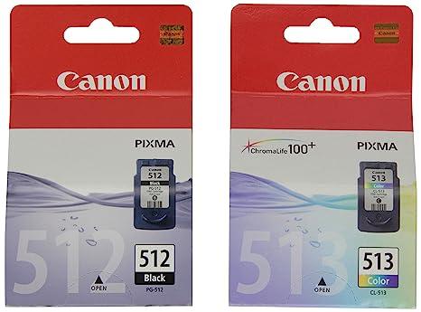 Canon PG-512+CL-513 - Cartucho de tinta original Negro y Tricolor ...