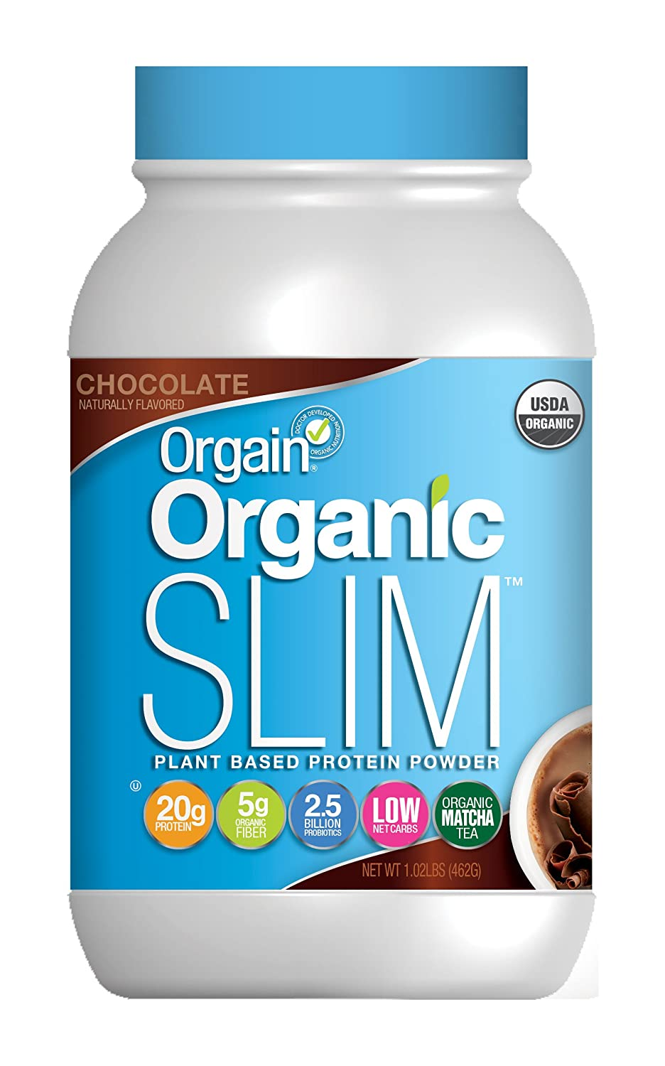 Orgain Organic Slim Weight Loss Powder, Chocolate, 1.02 Pound, 1 Count