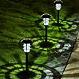 Solpex 8 Pack Solar Pathway Lights Outdoor, Solar Powered Garden Lights, Waterproof Led Path Lights for Patio, Lawn…