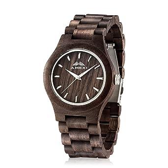 amexi men s watch walnut wood bracelet quartz analogue amexi men s watch walnut wood bracelet quartz analogue watches for men