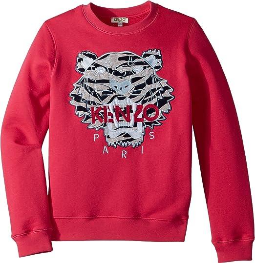 f8944699b82e Kenzo Kids Baby Girl s Sweat Seasonal Tiger (Toddler Little Kids) Fuchsia 4A