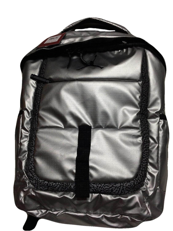 Amazon.com  Nike Air Jordan Silver Laptop Backpack Bag for Men ... 6c5a190270