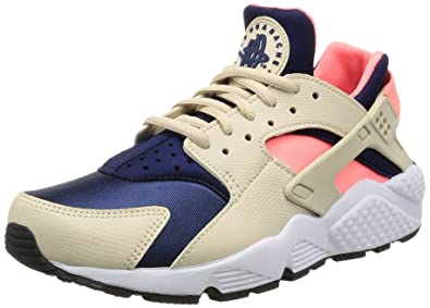 Nike Womens Air Huarache Oatmeal/Binary Blue Lava Glow Running Shoes ...