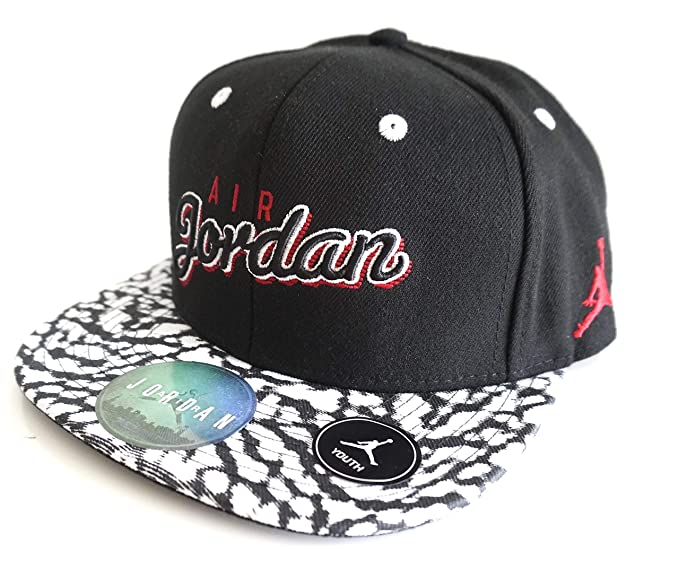 5841d869581 Image Unavailable. Image not available for. Colour  Nike Air Jordan Jumpman  Boys Youth Snapback Black White Camo Hat