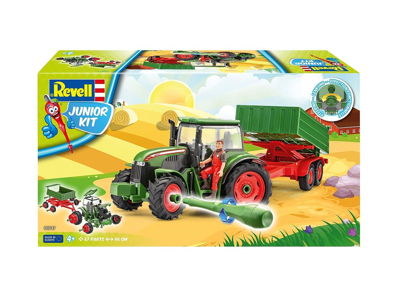 Figur 1:20 Modellbausatz zum Schrauben Spielzeugautos Revell 00817 Traktor mit Anhäng u