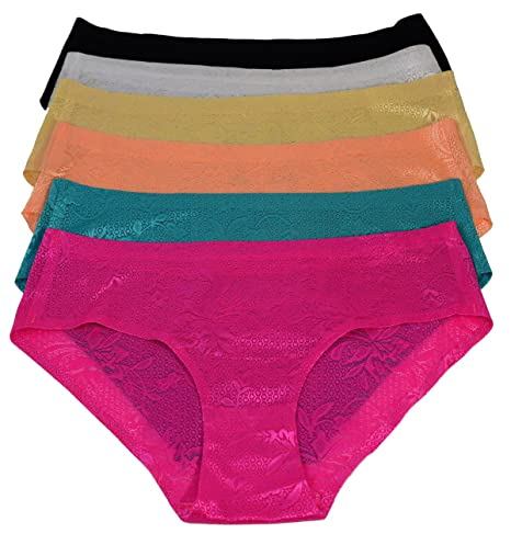 0f532b5e74 Women Lasercut Underwear Wholesale Pack of 12 Seamless Bikini Panty at  Amazon Women s Clothing store