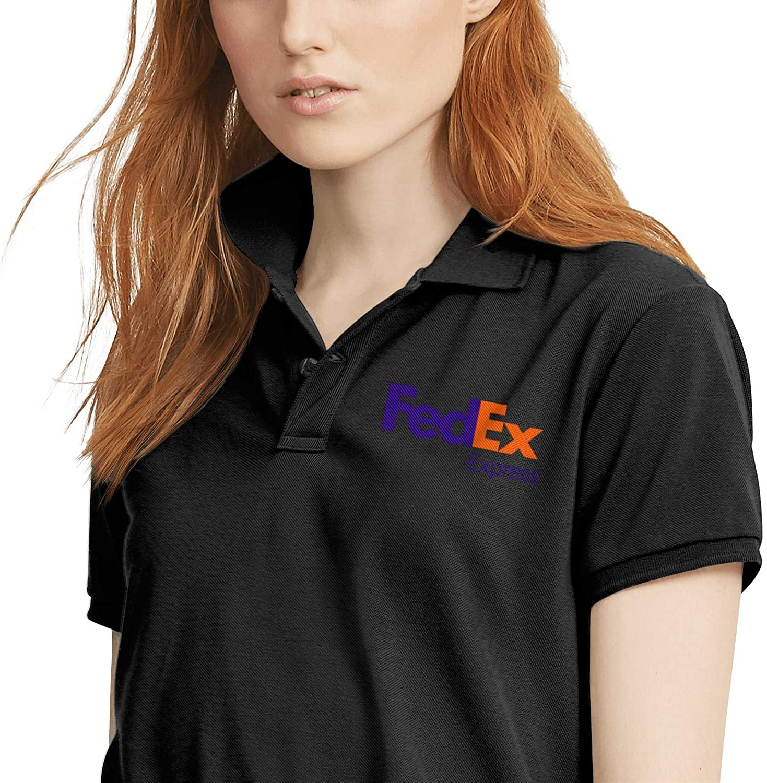 Vintage Black Polo T Shirt Work Uniform Ground-Express Salahe for Women
