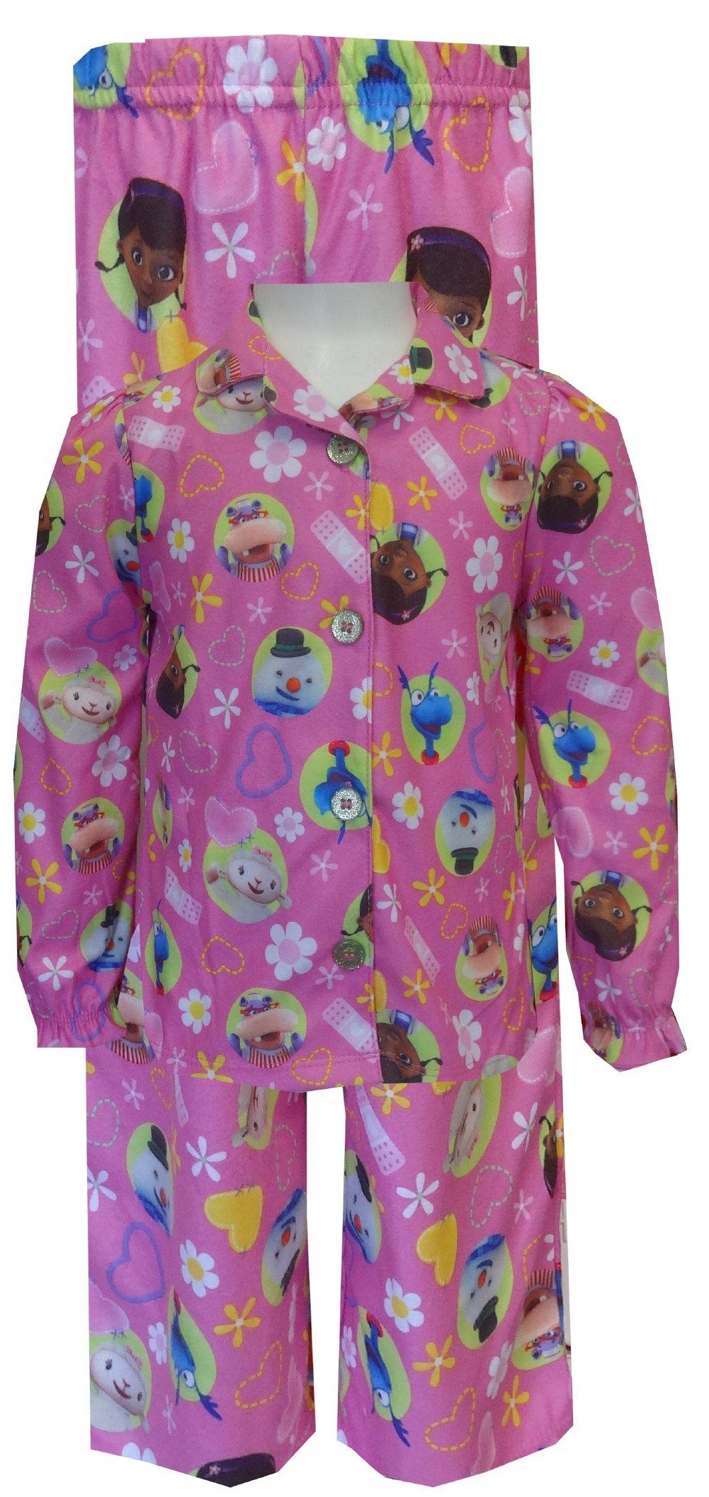 Komar Kids Little Girls' Doc Mcstuffin 2 Piece Coat Set, Pink, 2T