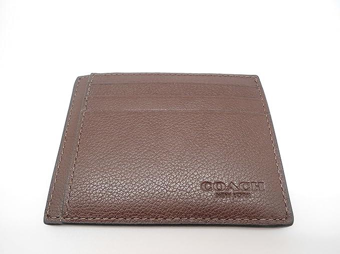 Coach camiseta deportiva de funda de piel tipo cartera tarjeta de identificación f75022: Amazon.es: Ropa y accesorios