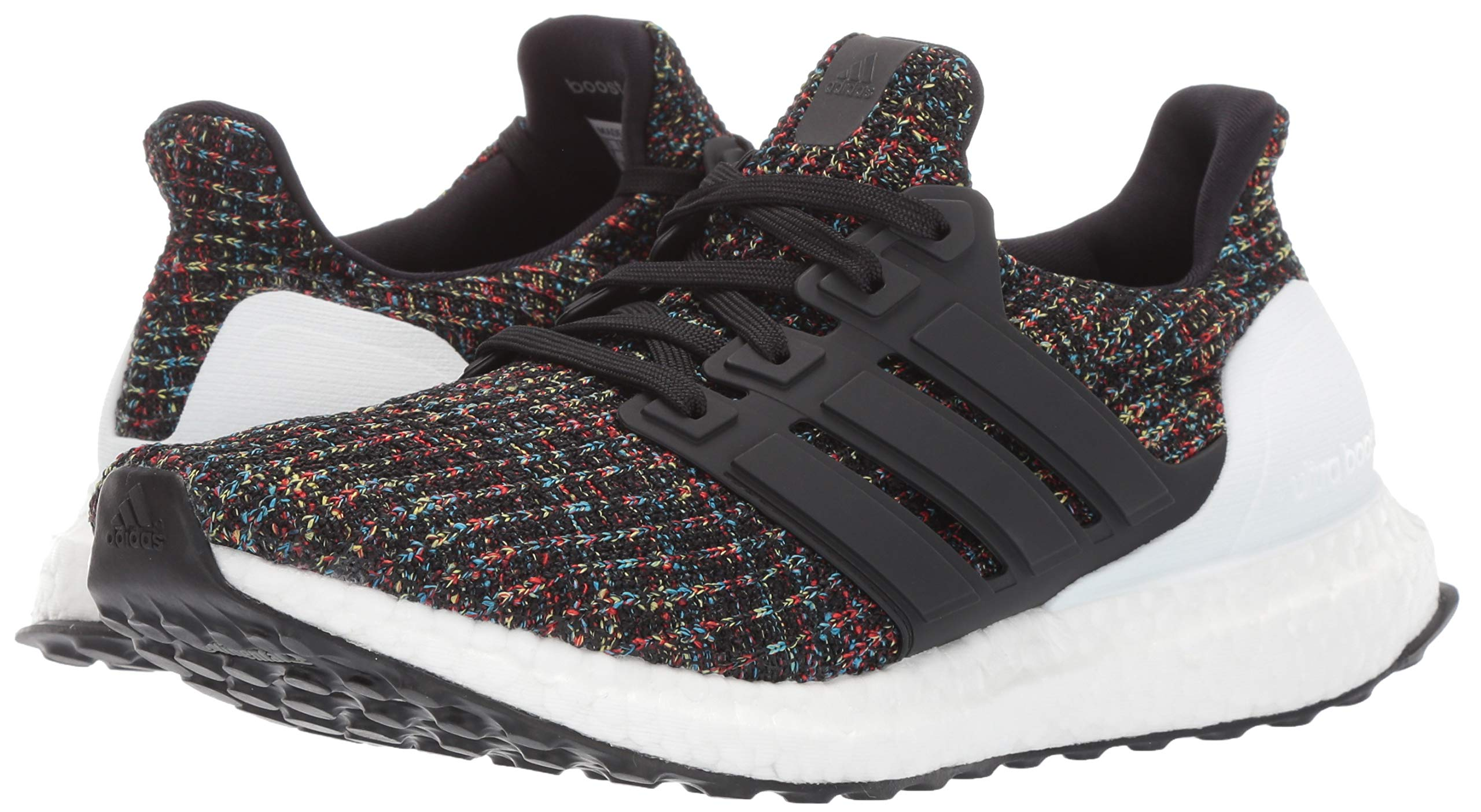adidas Unisex Ultraboost, Black/White/Active red, 4 M US Big Kid by adidas (Image #6)