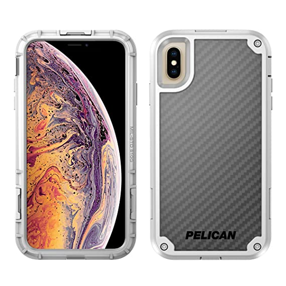 size 40 ee2e5 d9a31 Pelican Shield iPhone XS Max Case with Kevlar brand fibers (White)