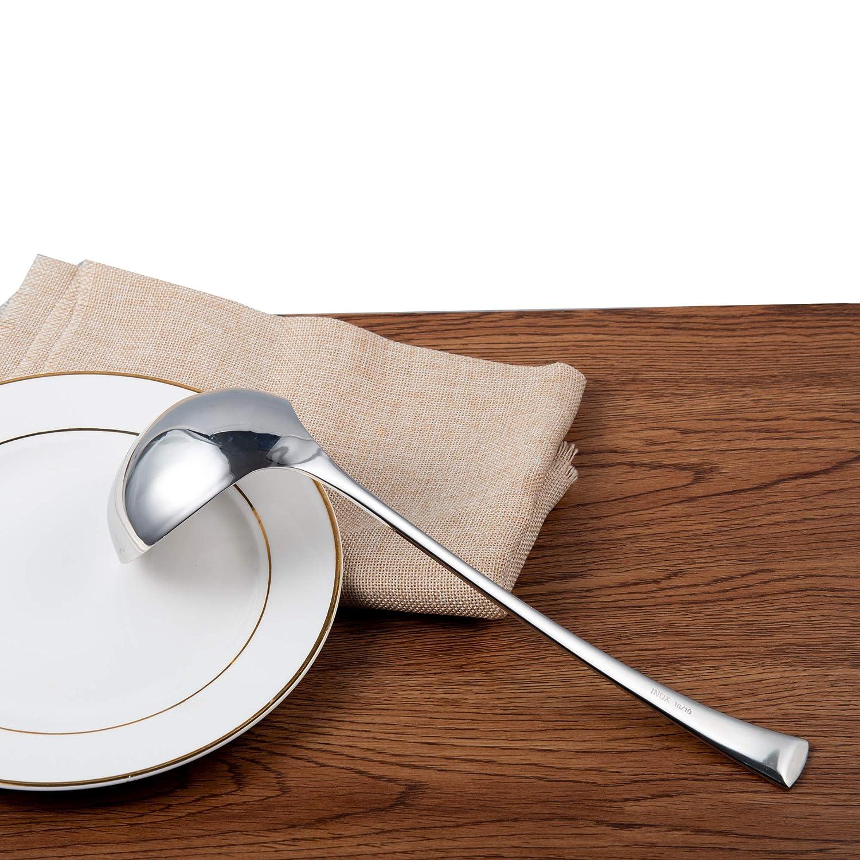 Cucchiaio da zuppa in Acciaio Inox 18//10 con Manico Lungo IMEEA/® 28 cm